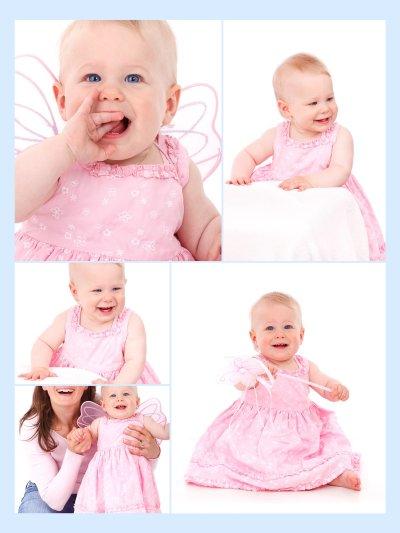 Baby und Kinderbilder als Fotocollage