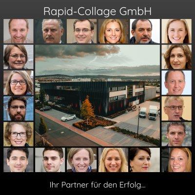 Beispiel Fotocollage fuer Firmen Fotos der Mitarbeiter und Teammitglieder
