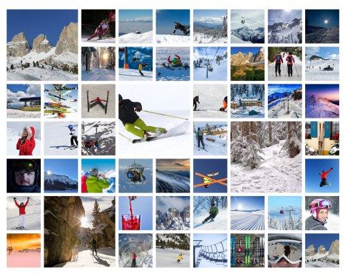 Collage mit Fotos aus dem Skiurlaub