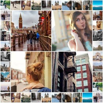 Collage von den schönsten Urlaubsbildern