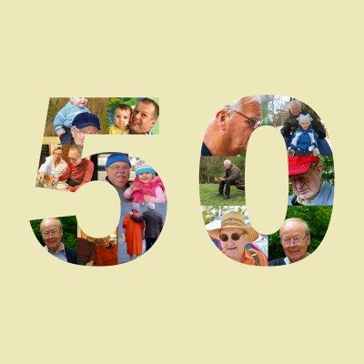 Fotocollage Runder Geburtstag Zahl 50
