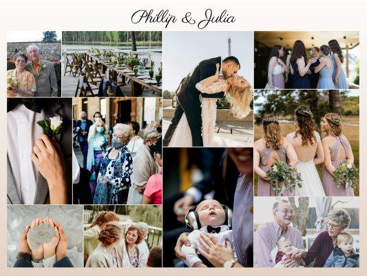Fotocollage als Geschenk oder Erinnerung aus Hochzeitsfotos