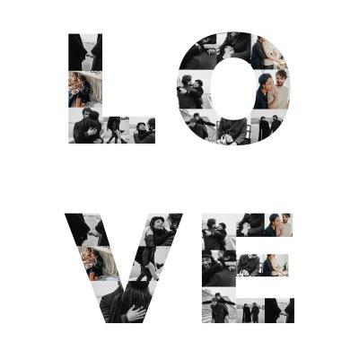 Fotocollage als Text Liebe und Partnerschaft
