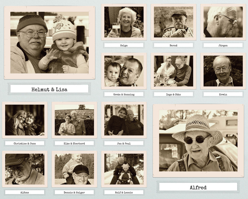Fotocollage im Sepia Retrostil mit alten Fotos