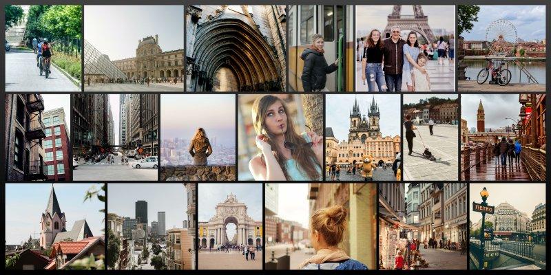 Fotos von der Urlaubsreise als Panorama Fotocollage